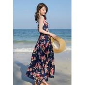 BC9887海灘度假連衣裙外罩衫