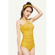 BC9891海灘鋼托連體泳衣