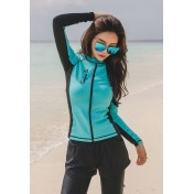 BMM8011 Korean Lady Five Piece Long Sleeve Rash Guard