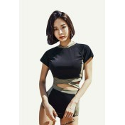 BMM8059 Korean Lady One Piece Wired Swimsuit
