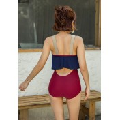 BMM8076 Korean Lady One Piece Wired Swimsuit