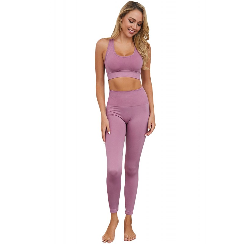 BYG7003 Lady Quick Drying Solid Color Yogo Sports Set
