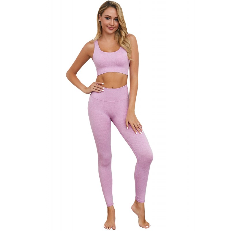 BYG7004 Lady Quick Drying Solid Color Yogo Sports Set