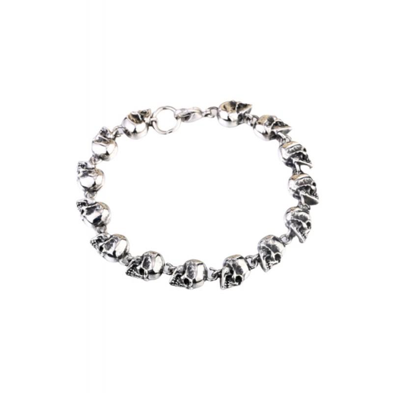 JSC214 Skull Chain Bracelet