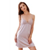 LCB6022-Lady Sexy V-Neck Sleeveless Nightwear