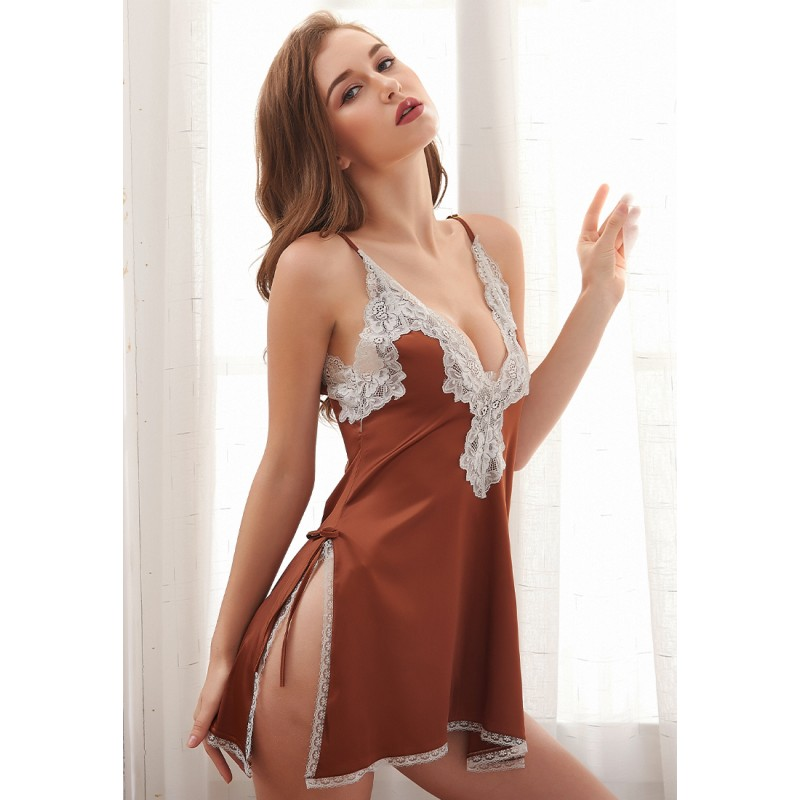 LCB6023-Lady Sexy V-Neck Sleeveless Nightwear