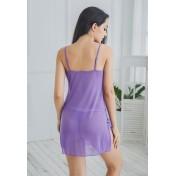 LCB6032-Lady Sexy Lace Sleepwear Three Pieces Set