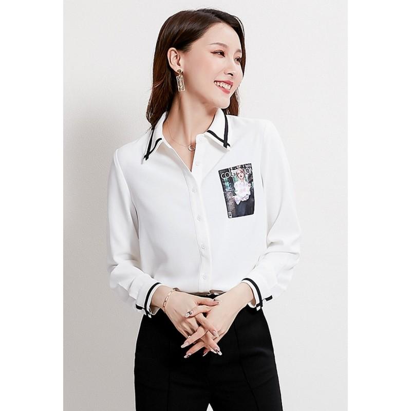LCC8013韓風時尚秋冬女士女裝雪紡上衣