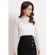 LCC8037韓風時尚秋冬女士印花吊帶兩件套透視雪紡衫