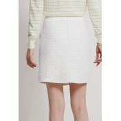 LCC8059 Korean Style Autumn_Winter Lady A_Line Package Hip Mini Skirt