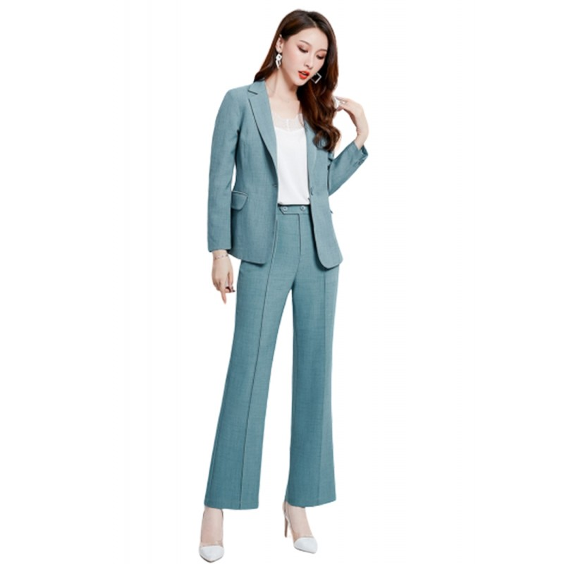 LCC8061 Korean Style Autumn_Winter Lady High Waistline Staightline Pants