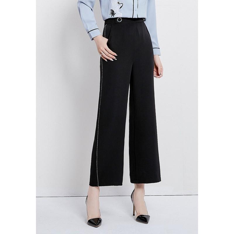 LCC8063 Korean Style Autumn_Winter Lady High Waistline Staightline Pants