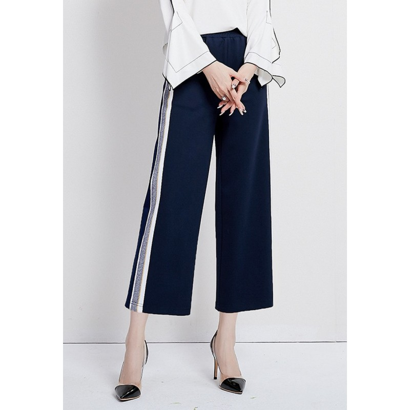 LCC8064 Korean Style Autumn_Winter Lady High Waistline Cropped Pants