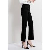 LCC8065 Korean Style Autumn_Winter Lady High Waistline Staightline Pants