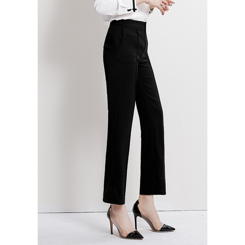 LCC8065 Korean Style Autumn_Winter Lady High Waistline Staightline Pants