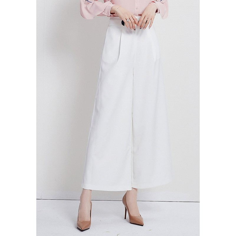 LCC8066 Korean Style Autumn_Winter Lady High Waistline Wide Leg Pants