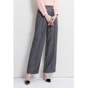 LCC8067 Korean Style Autumn_Winter Lady High Waistline Wide Leg Pants