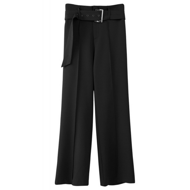 LCC8068 Korean Style Autumn_Winter Lady High Waistline Staightline Pants