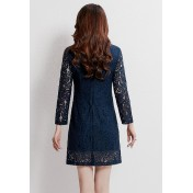 LCC8070 Korean Style Autumn_Winter Lady Lace One Piece Dress