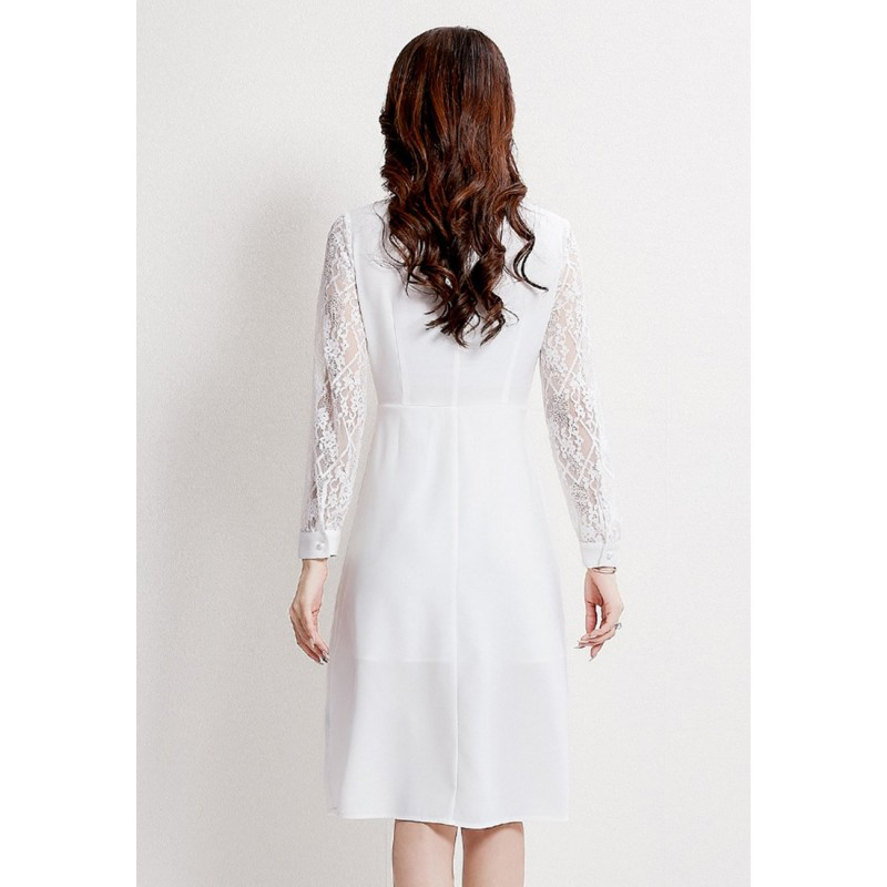 LCC8073 Korean Style Autumn_Winter Lady Lace One Piece Dress