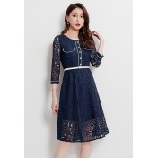 LCC8074 Korean Style Autumn_Winter Lady Lace One Piece Dress