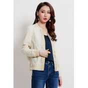 LCC8076 Korean Style Autumn_Winter Lady Long Sleeve Baseball Coat