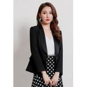 LCC8078韓風時尚秋冬女士OL修身西裝外套