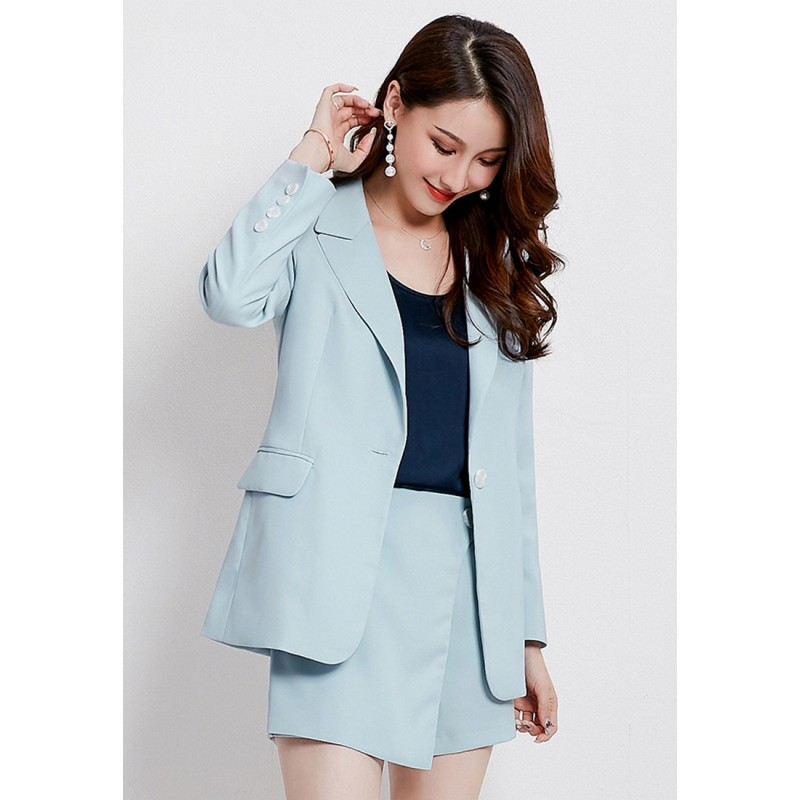 LCC8080 Korean Style Autumn_Winter Lady Long Sleeve Suit
