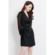 LCC8082 Korean Style Autumn_Winter Lady Long Sleeve Suit