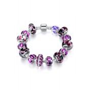 LCH6001 Elegant Glazed Glass Charm Bracelet