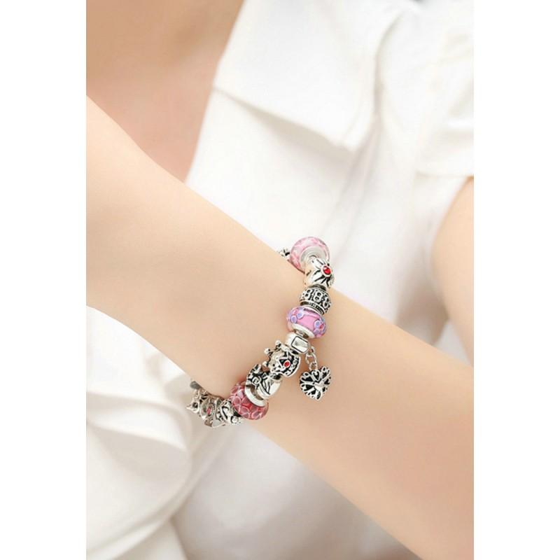 LCH6010 Elegant Glazed Glass Charm Bracelet
