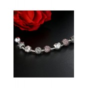 LCH6013 Romantic Pink Charm Bracelet