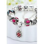 LCH6014 Elegant Glazed Glass Charm Bracelet