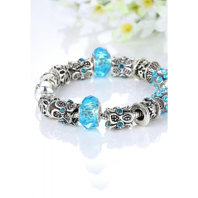 LCH6015 Mystic Sky Blue Elegant Charm Bracelet