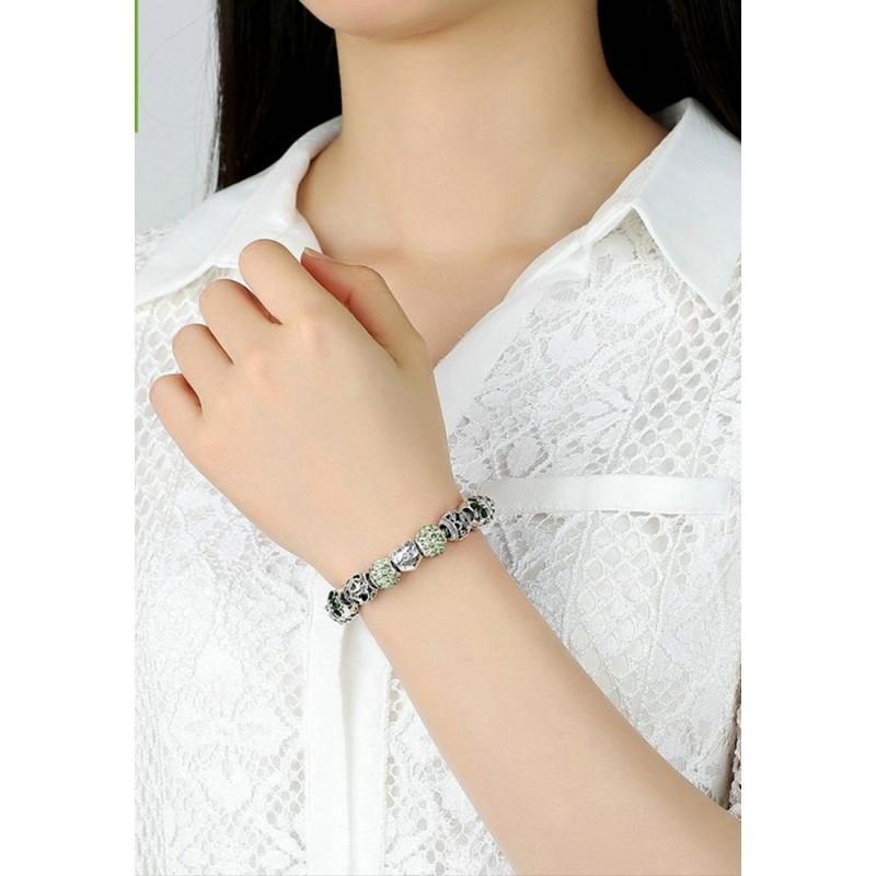 LCH6023 Elegant Green Charm Bracelet