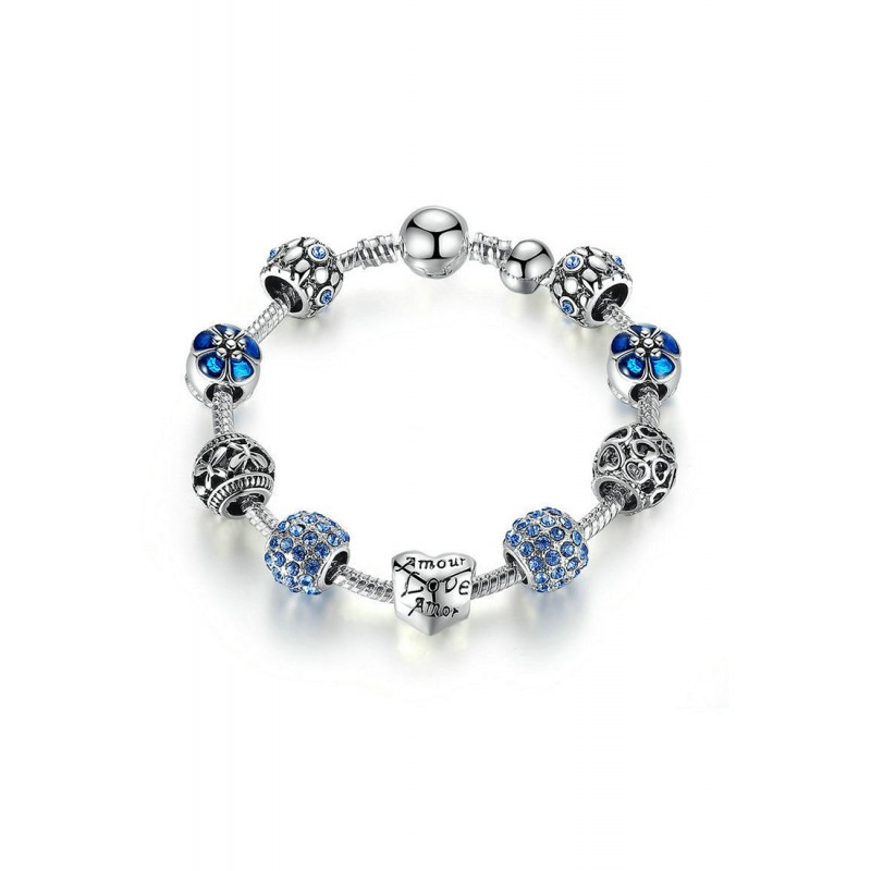 LCH6027 Elegant Blue Glazed Glass Bracelet