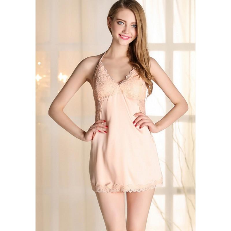 LCL9508 European Style Lady Sexy Lace Sleepwear