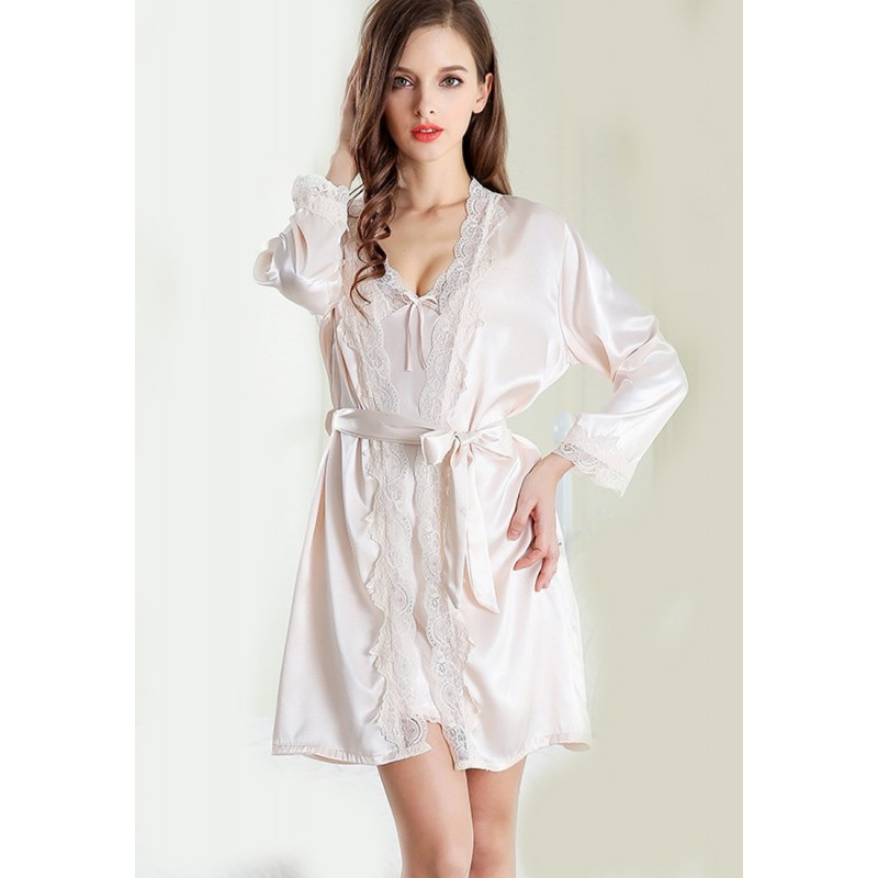 LCL9537 European Style Lady Sexy Lace Sleepwear Two Pieces Set