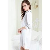 LCL9551 European Style Lady Sexy Lace lapel Collar Sleepwear