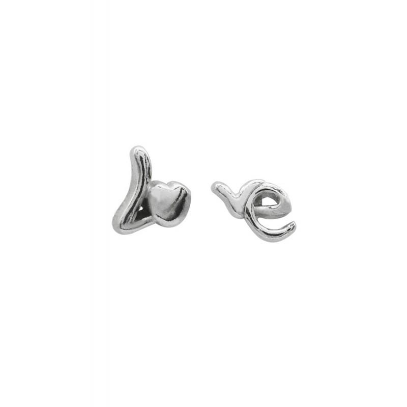 LDR3003-5mm Love Lettering Earrings