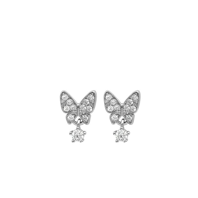 LDR8090 S925 Silver Butterfly Earrings