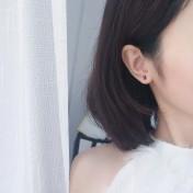 LDR8091 S925 Silver XO Earrings