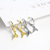 LDR8096 S925 Silver Fish Tail Earrings