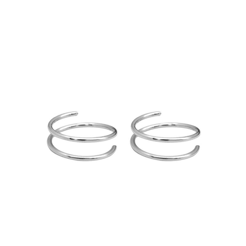 LDR8097 S925 Silver Circule Earrings