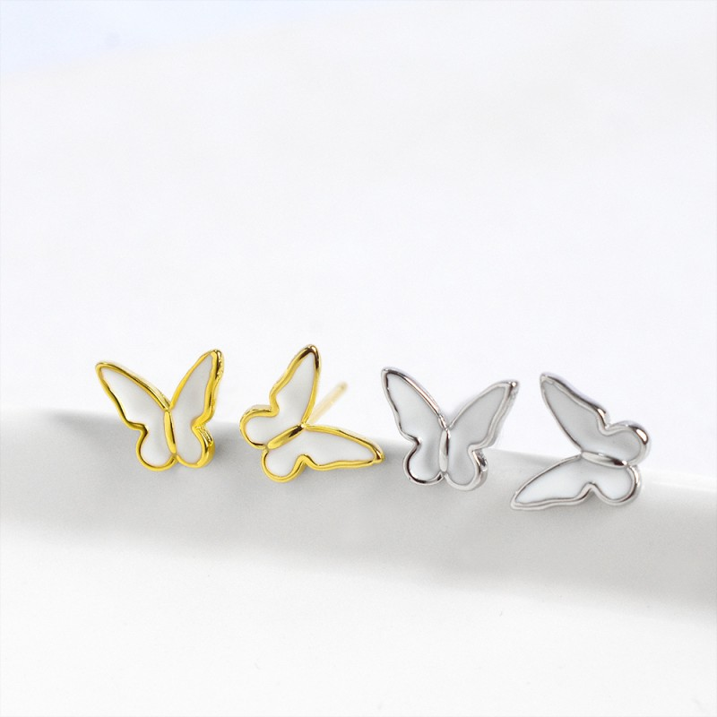 LDR8099 S925 Silver Butterfly Earrings