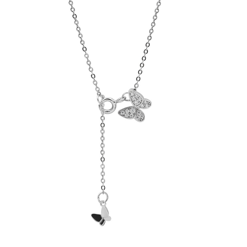 LDR8100 S925 Silver Butterfly Necklace
