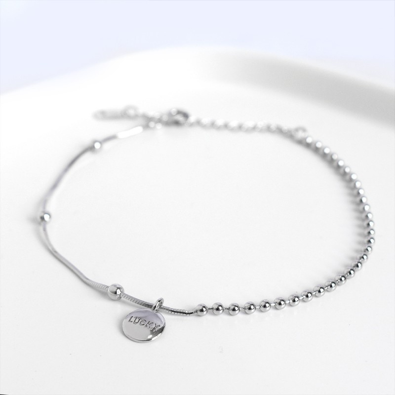 LDR8102 S925 Silver Lucky Bean Bracelet