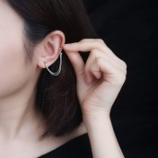 LDR8104 S925 Silver Double Beans Earrings