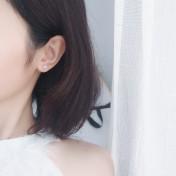 LDR8106 S925 Silver Smiley Earrings