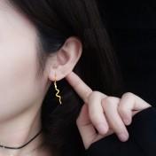 LDR8112 S925 Silver Snake Buckle Earrings